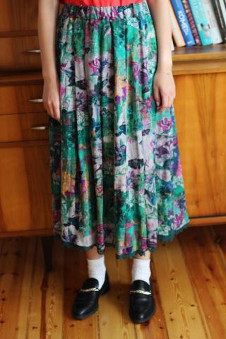Vintage spódnica z wiskozy...