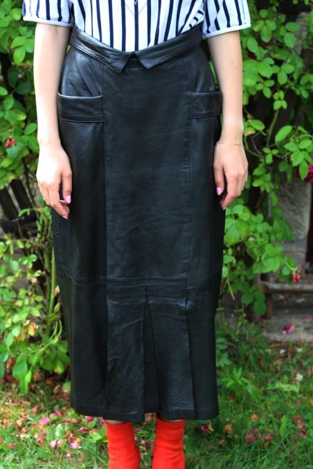 Vintage czarna spódnica ze...