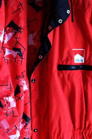 Vintage czerwona ocieplana...