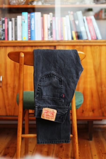 Vintage ciemne jeansy...