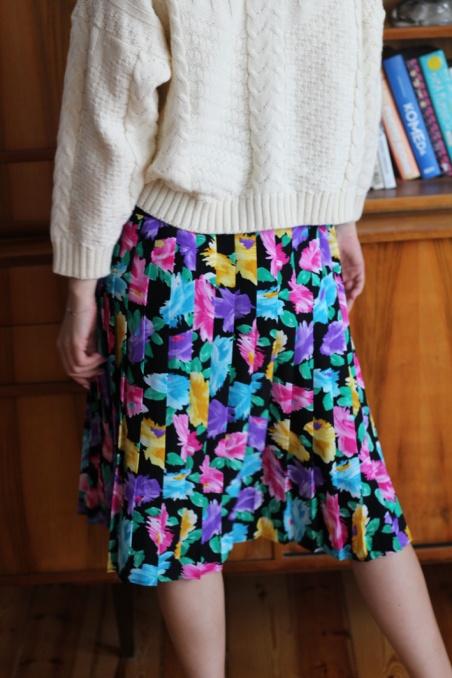 Vintage plisowana spódnica...