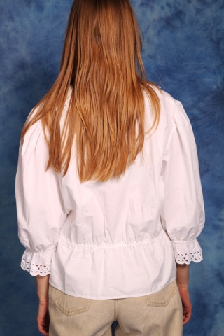 Vintage biała bluzka z...