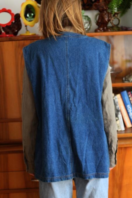 Vintage jeansowa długa...
