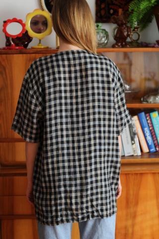 Vintage lniana koszula...