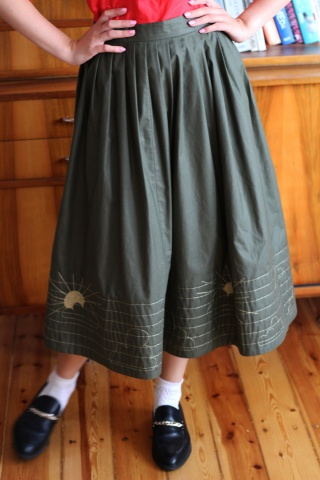 Vintage spódnica w kolorze...