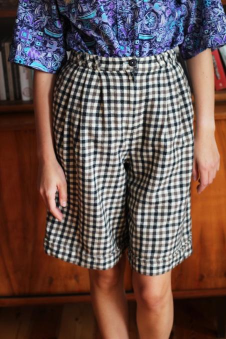 Vintage wełniane szorty w...