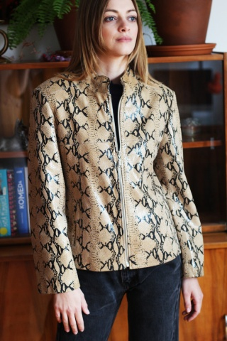 Vintage skórzana kurtka w...