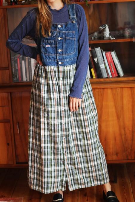 Vintage jenasowa sukienka z...