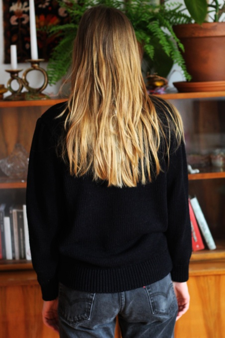 Vintage black sweater with...