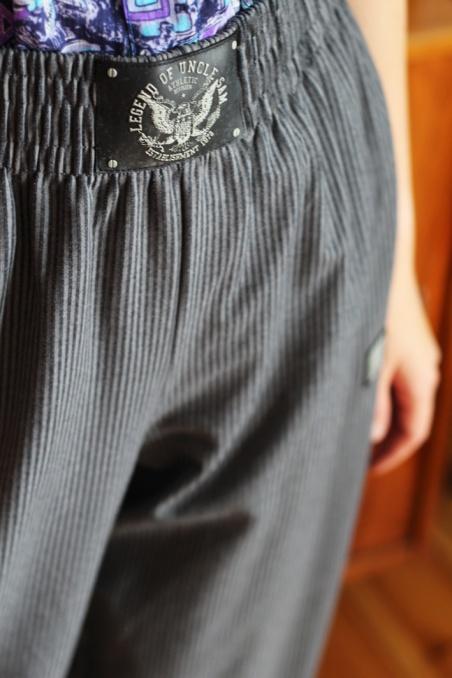 Vintage bawełniane spodnie...