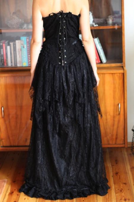 Vintage czarna koronkowa...