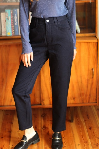 Vintage granatowe mom jeans...