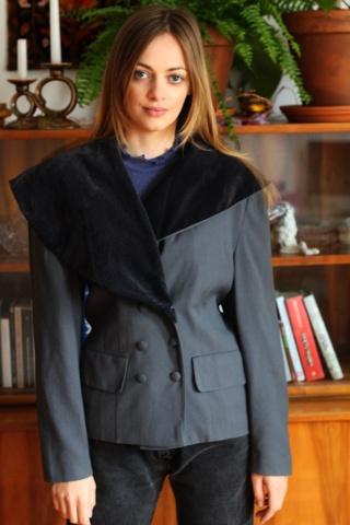 Vintage grey woolen jacket...
