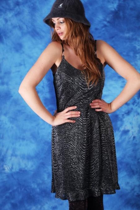 Vintage srebrna  sukienka...