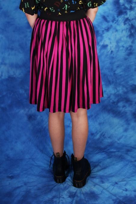 Vintage różowo-czarna...