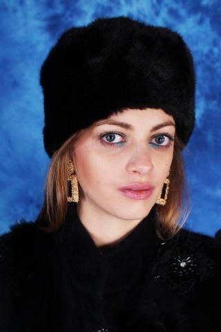 Vintage czarna czapka...