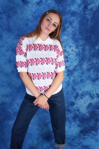 Vintage kwiecisty sweterek...