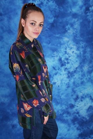 Vintage kolorowa kwiecista...