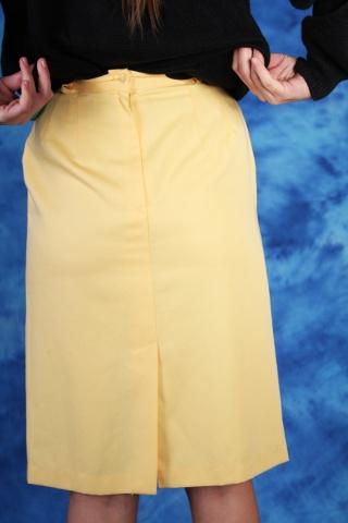 Vintage pastelowa żółta...