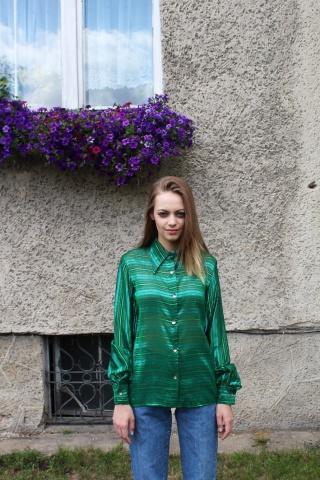 Vintage zielona metaliczna...