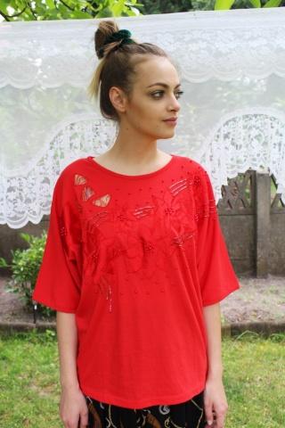 Vintage czerwony bogato...