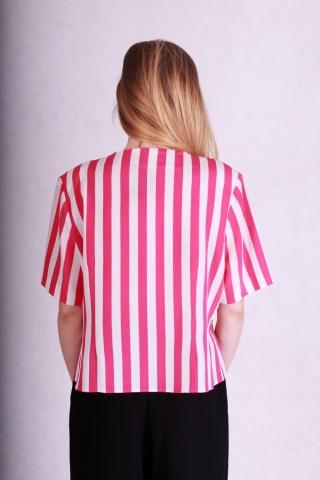 Vintage różowo-biała...