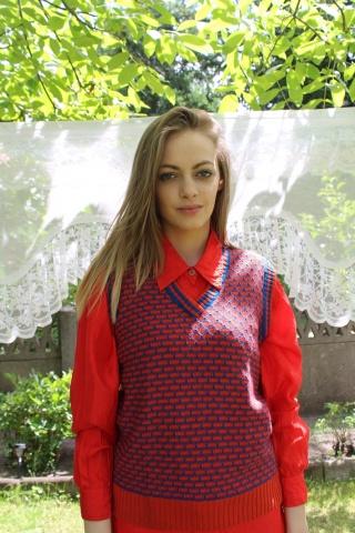 Vintage red & blue vest...