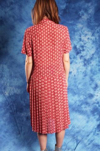 Vintage czerwona  sukienkaz...