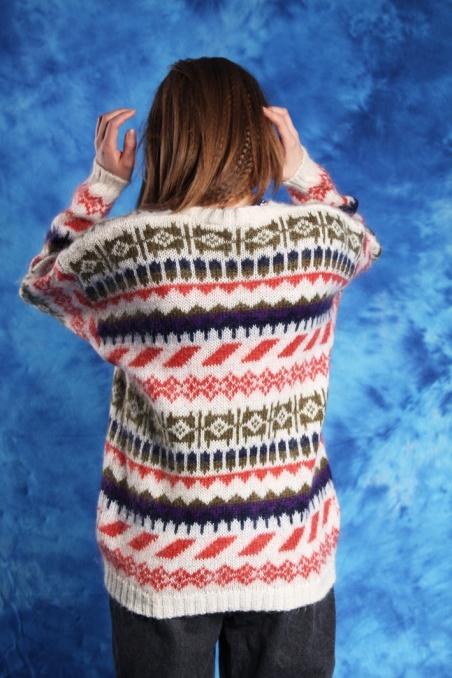 Vintage woolen colorful...