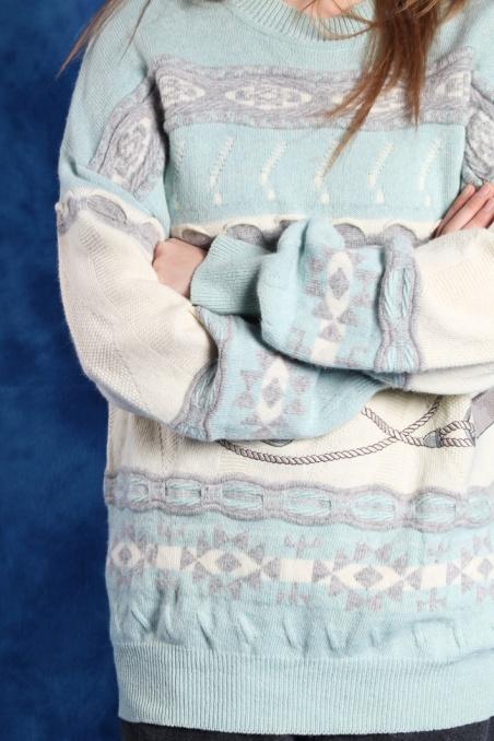 Vintage mint warm woolen...