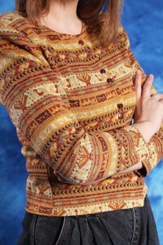 Vintage bluzka w azteckie...