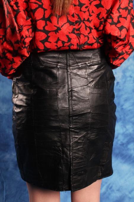 Vintage skórzana czarna...