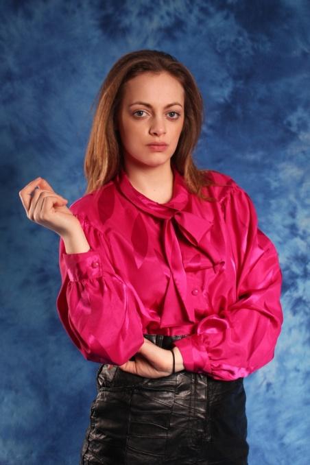 Vintage różowa elagancka...