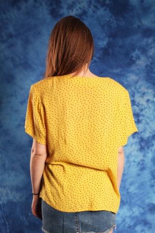 Vintage żółta bluzka w...