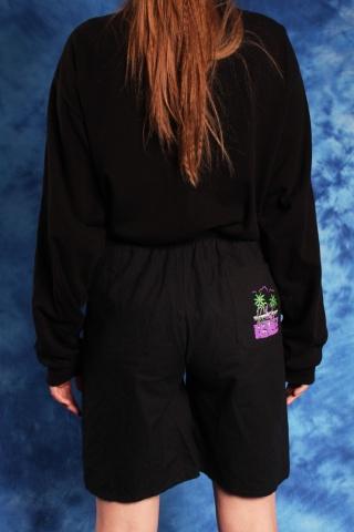 Vintage czarne szorty w...