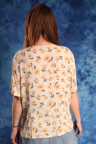 Vintage wzorzysta bluzka...