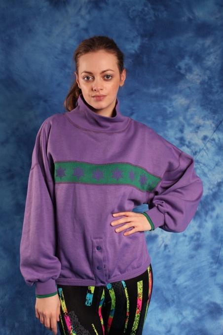 Vintage fioletowa bluza z...
