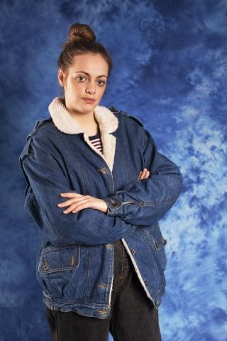 Vintage kurtka jeansowa z...