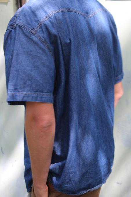 Vintage jeansowa koszula z...