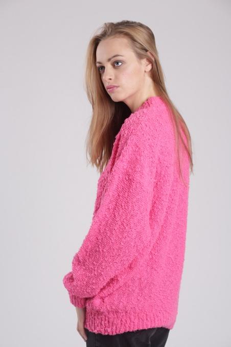 Vintage różowy sweterek z...