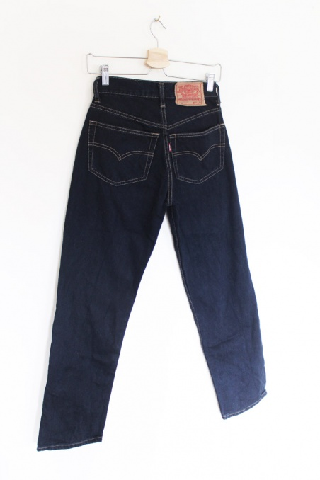 Vintage granatowe spodnie...