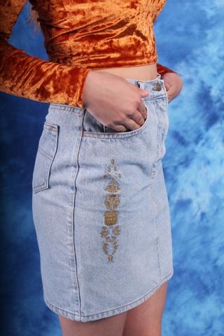 Vintage spódniczka jeansowa...