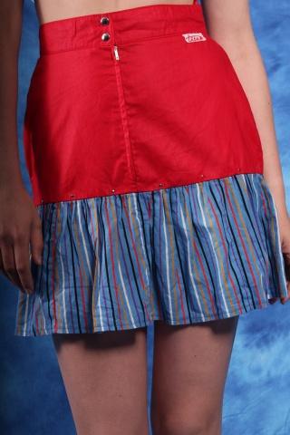 Vintage colorful striped...