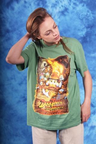 Vintage zielony t-shirt z...