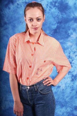 Vintage pomarańczowo -biała...