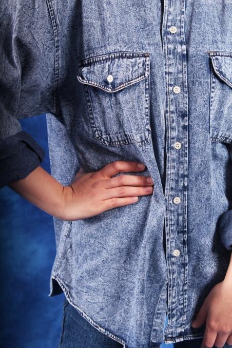 Vintage jeansowa marmurkowa...