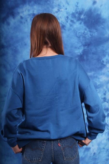 Vintage niebieska bluza z...