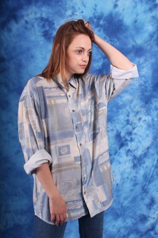 Vintage  wzorzysta koszula...