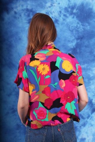 Vintage kolorowa bluzka w...