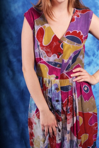 Vintage kolorowa sukienka...